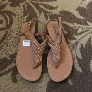 Tan sandals 8.5